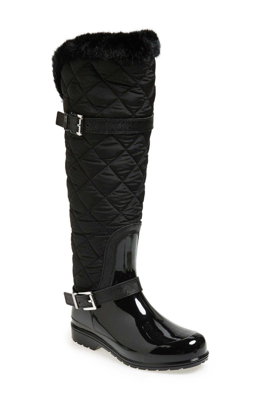 officiell leverantör presenter löparskor MICHAEL Michael Kors 'Fulton' Quilted Rain Boot (Women) | Boots ...