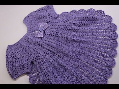 c1b5a86f2d15 Vestido Crochet para Niña 3 a 4 años - YouTube | crochê infantil ...