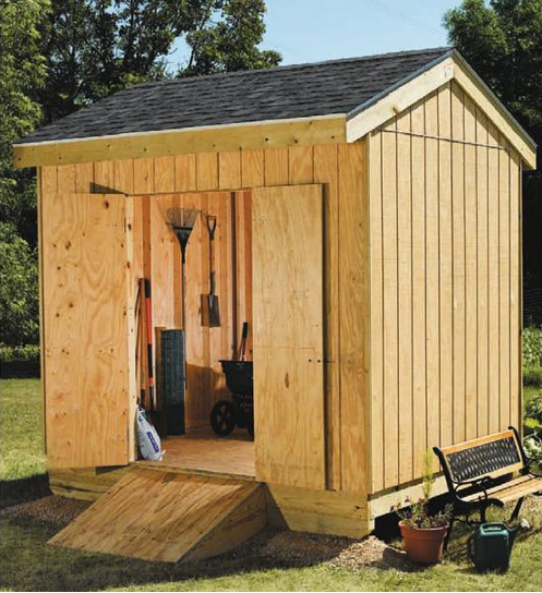 Download A Free 8x12 Storage Shed Plan, 8x10 Garden Shed Plan, Lean To