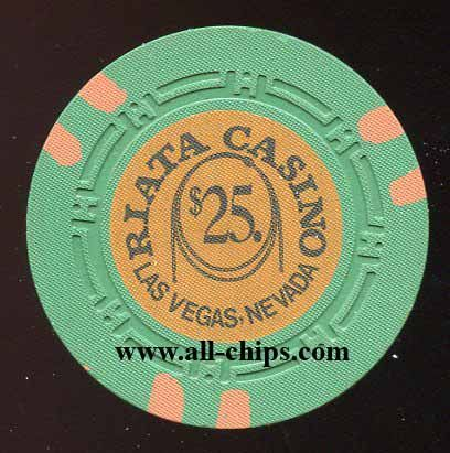 #LasVegasCasinoChip of the Day is a $25 Riata Casino 1st issue you can get here http://www.all-chips.com/ChipDetail.php?ChipID=18117 #CasinoChip #OldVegas