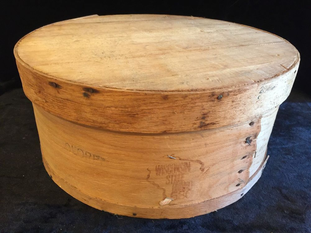 Details About Vintage Round Bentwood Shaker Pantry Cheese Box Large