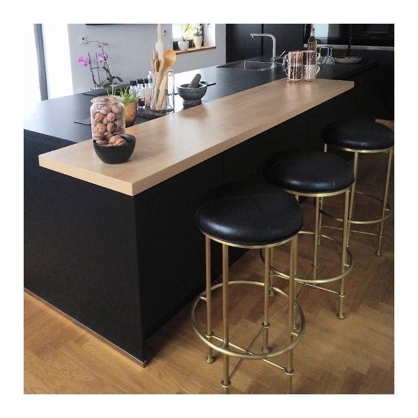 Duke Metal Bar Stool, Faux Leather Seat, Tan 75cm #metallicleather