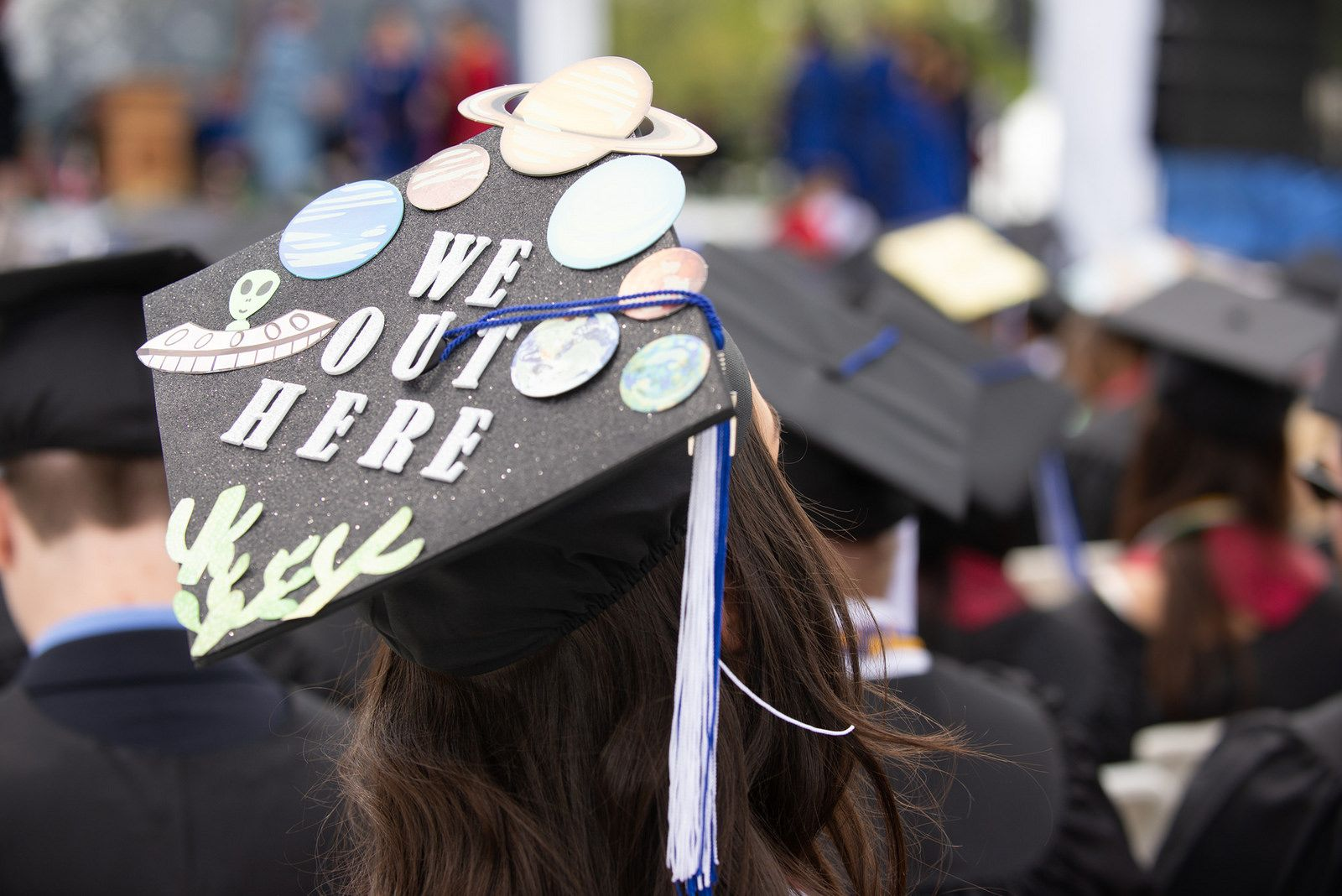 Heres An Out Of This World Outer Space Themed Grad Cap From Unh