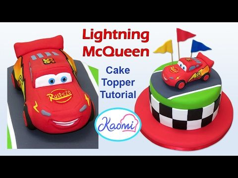 How To Make Lightning Mcqueen Cake Topper Cómo Hacer A Rayo Para Tortas You