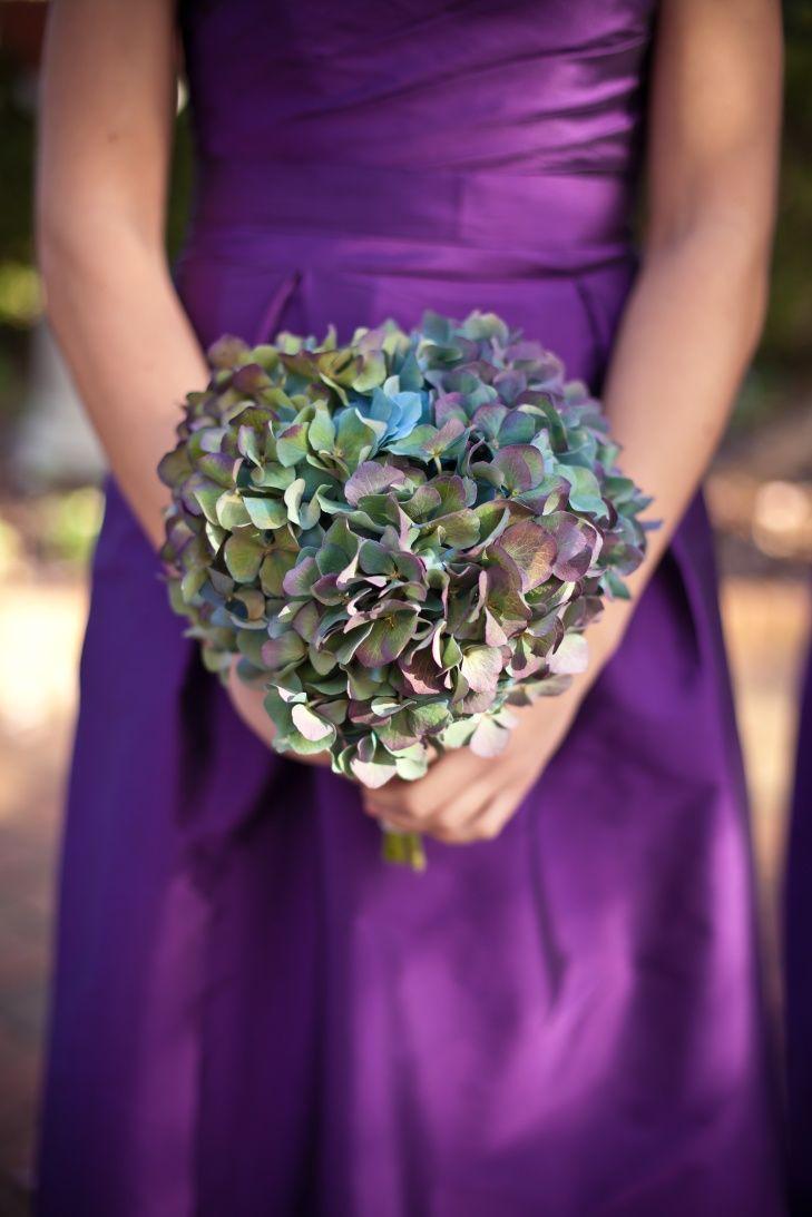 Stunning Antique Blue Hydrangea Wedding Bouquet Hydrangea