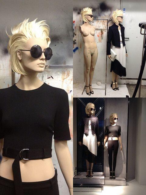 Zara, mannequin hairstyle, pinned by Ton van der Veer