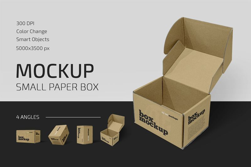 Download Small Paper Box Mockup Set Counrty4k Box Mockup Paper Box Business Card Design Inspiration