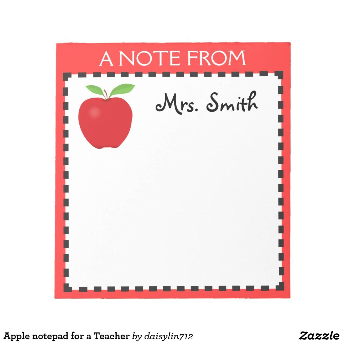 Apple notepad for a Teacher Note pad