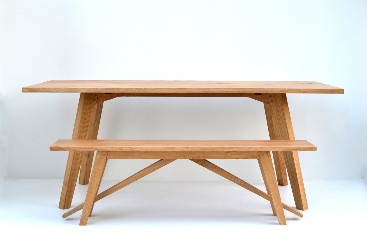 Kitchen table benches  Chiswick Oak Dining Table by MakersFurniture on Etsy  Kitchen