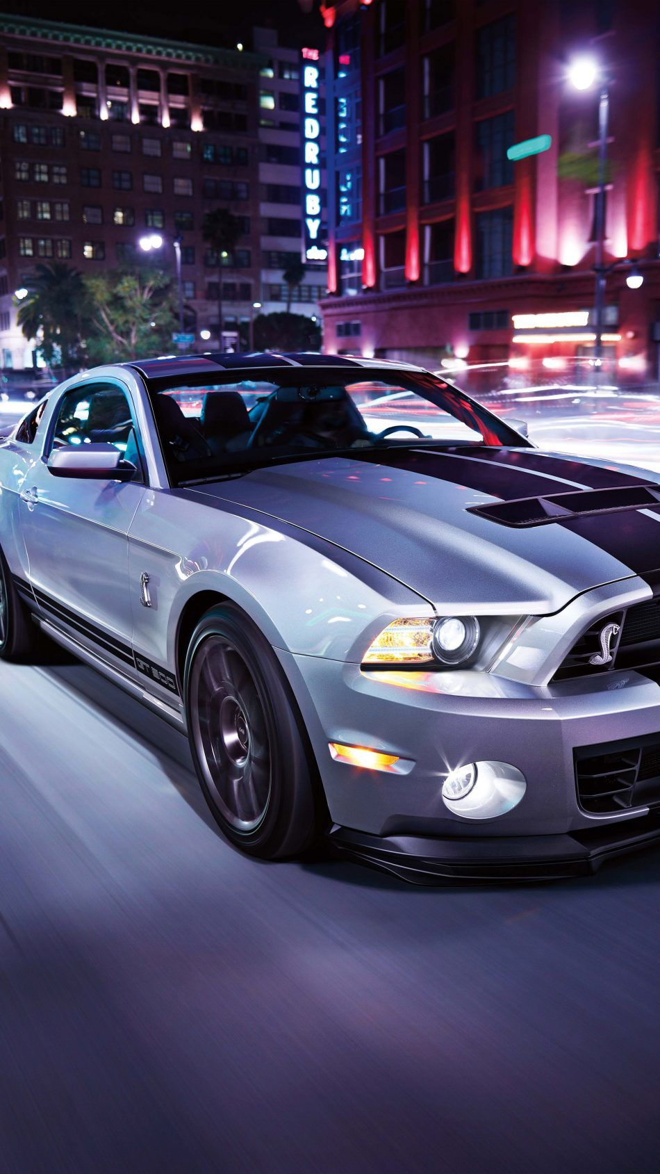 Ford Mustang Night Street Car Wallpapers Car Wallpapers Cars