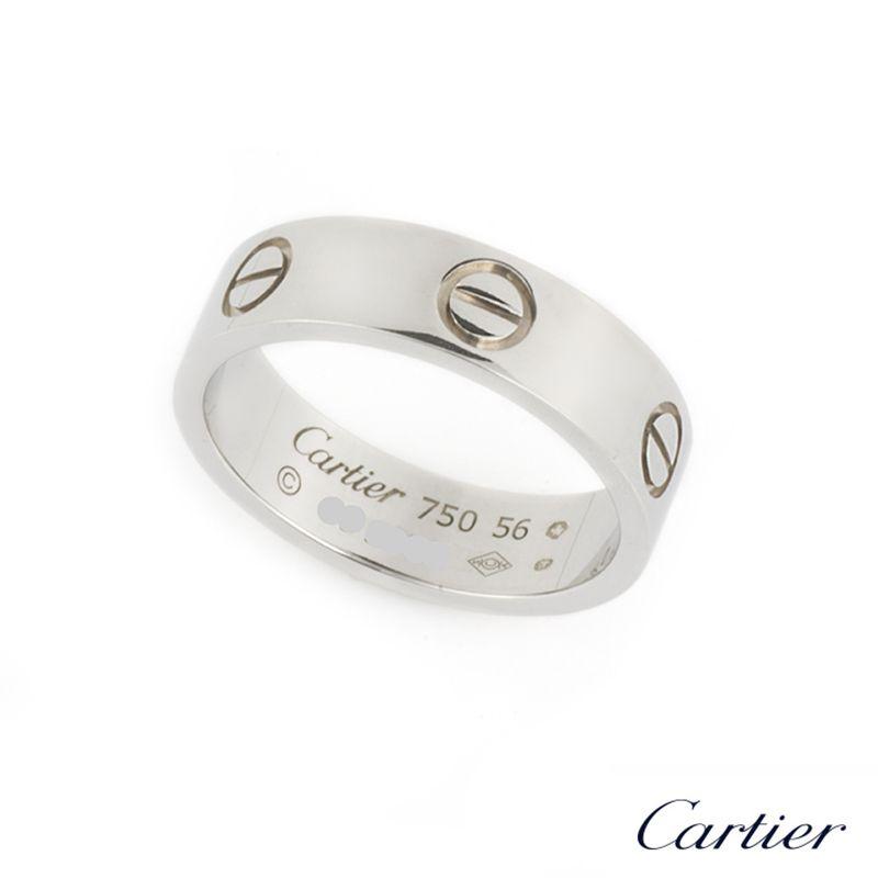 Cartier 18k White Gold Love Ring Size 56 B4022656 B&P  http://www.richdiamonds.com/product/cartier-18k-white-gold-love-ring-size-56-b4022656%C2%A0bp/3846