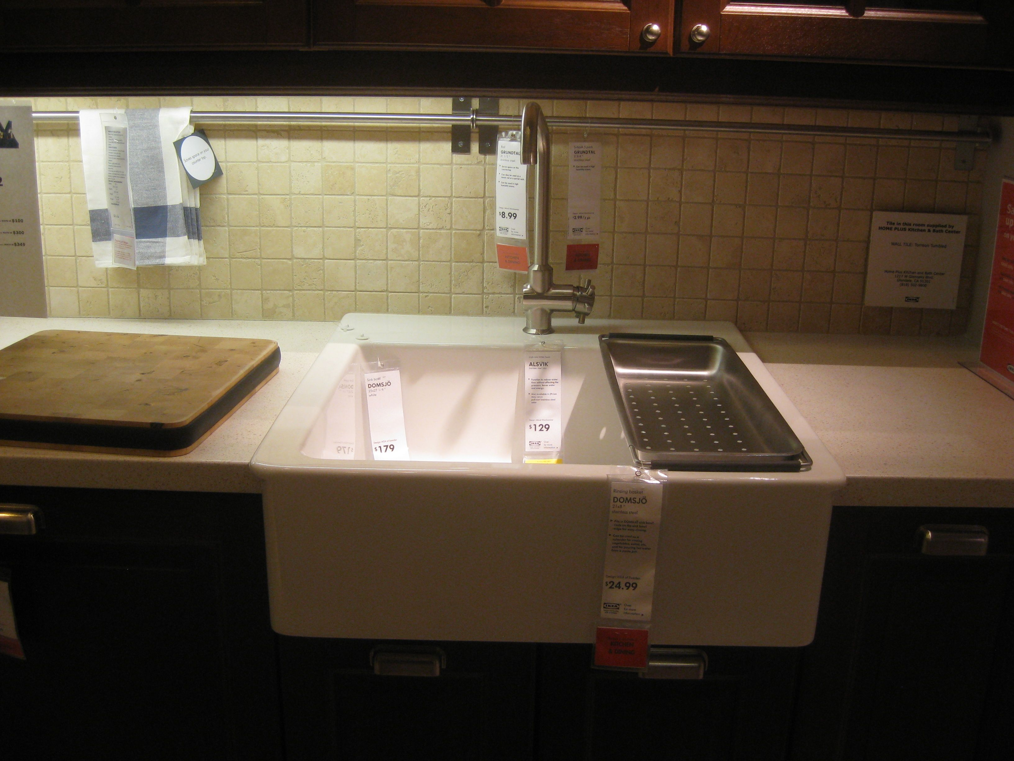 Ikea kitchen sink domsjo domsjo sink pinterest for Ikea kitchen sink domsjo