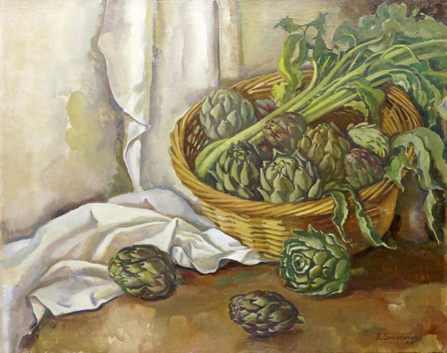 "blastedheath: "" Zinaida Serebriakova (Russian, 1885-1967), Still life with artichokes, 1932. Oil on canvas, 65 x 80 cm. """