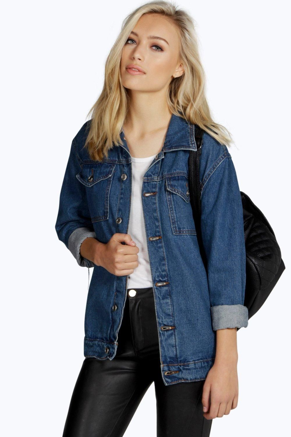 Jodie Oversize Denim Boyfriend Jacket   denim jacket in 2019   Denim ... 7962a02144