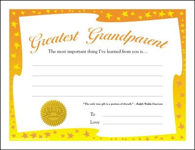 Free Downloadable Greatest Grandparent Award Sheets Grandparents Day Crafts Greatful Grandparents Day