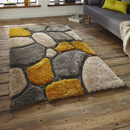 Think Rugs Noble House Hand Tufted Grey Yellow Area Rug Noble House Home Rugs Yellow Area Rugs