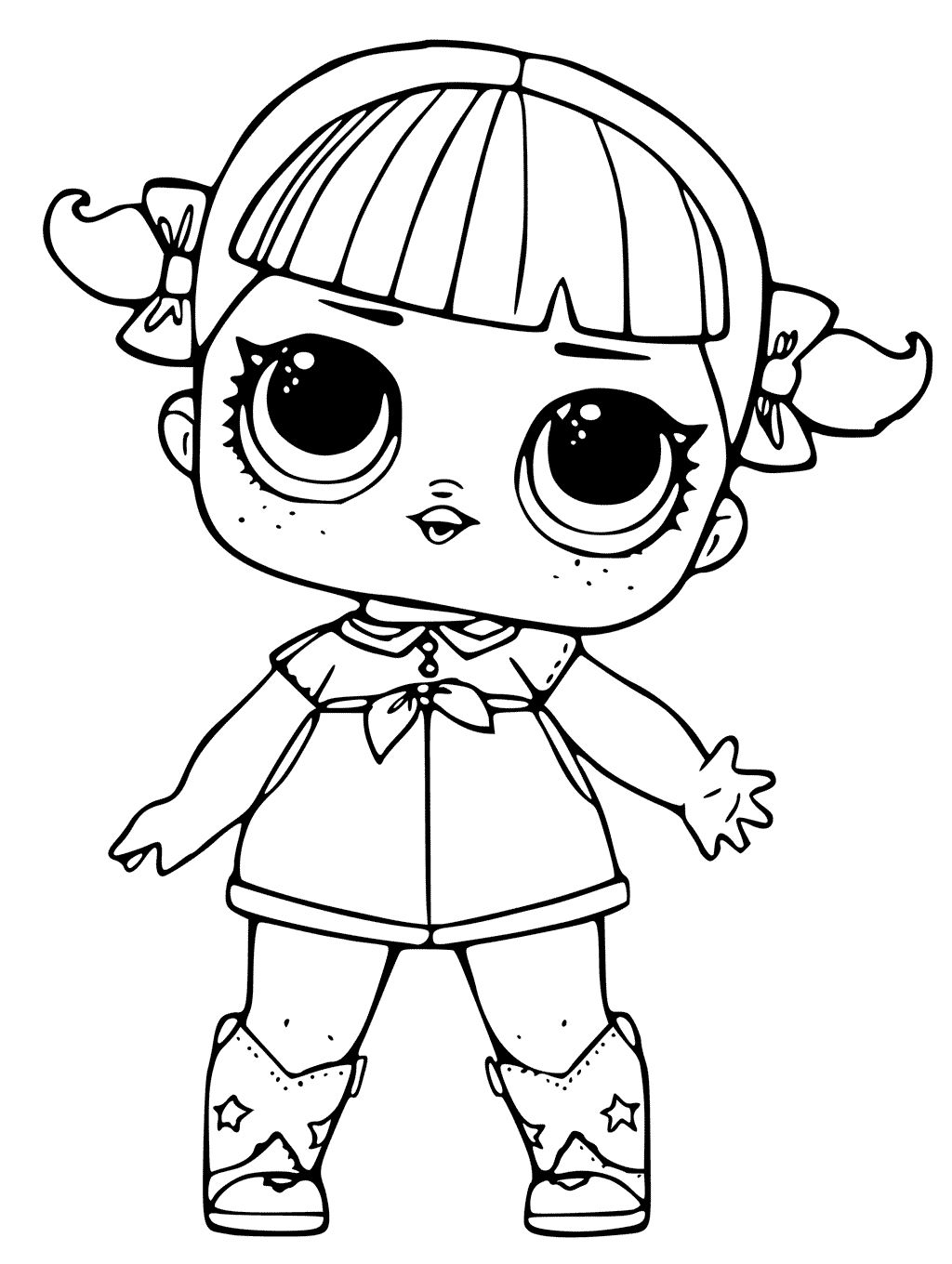 Lol Coloring Pages 10 K Lol Surprise Doll Coloring Pages Cherry Jpg 1 024 1 360 Pixels Lol Dolls Doll Drawing Cheer Captain