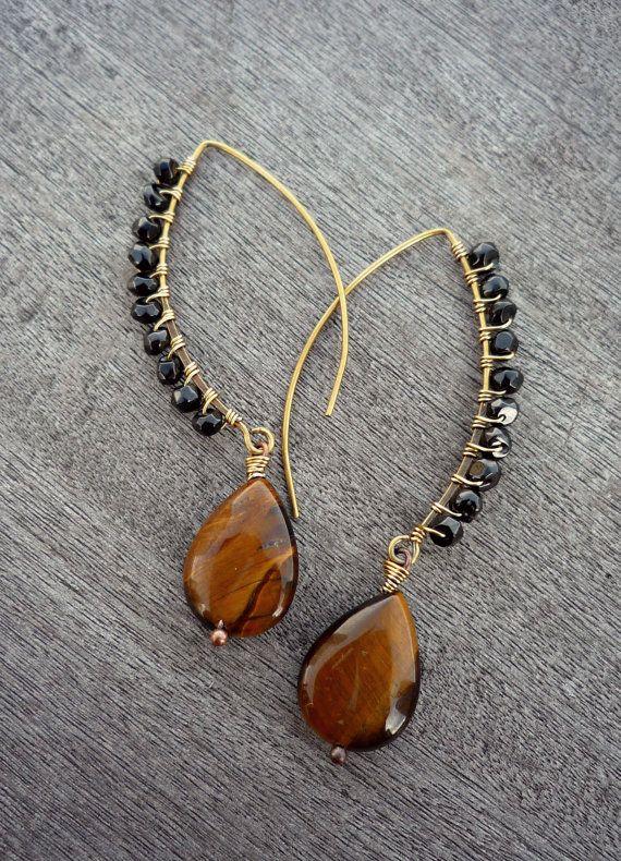 Ähnliche Artikel wie Lapislazuli Perlen Platte gold Stones Schmuck böhmische Ohrringe auf Etsy