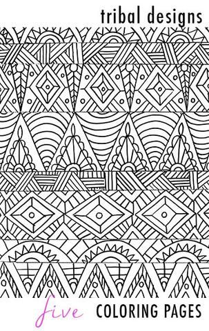 tribal designs 5 coloring pages - Coloring Pages With Designs