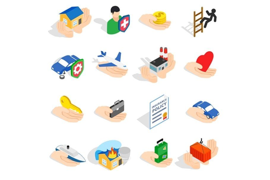 Insurance icons set human icon icon set icon set vector