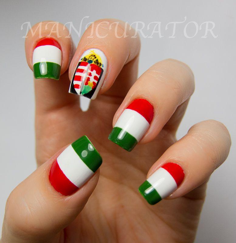 Hungarian flag #nail #nails #nailart | neat ideas :) | Pinterest ...