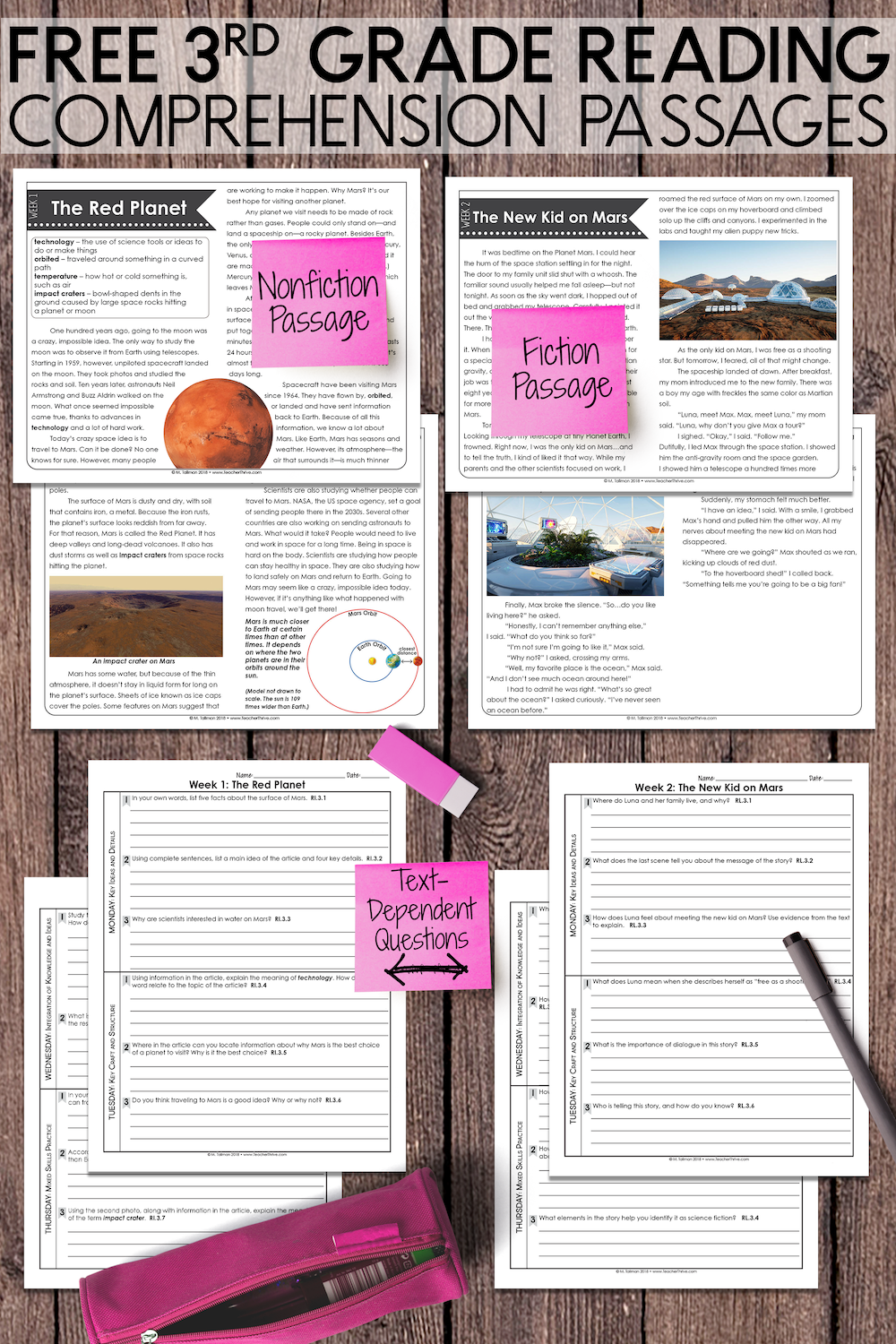 Free 3rd Grade Reading Comprehension Passages And Text Dependent Questions Covers Ficti Reading Comprehension 3rd Grade Reading Reading Comprehension Passages [ 1500 x 1000 Pixel ]