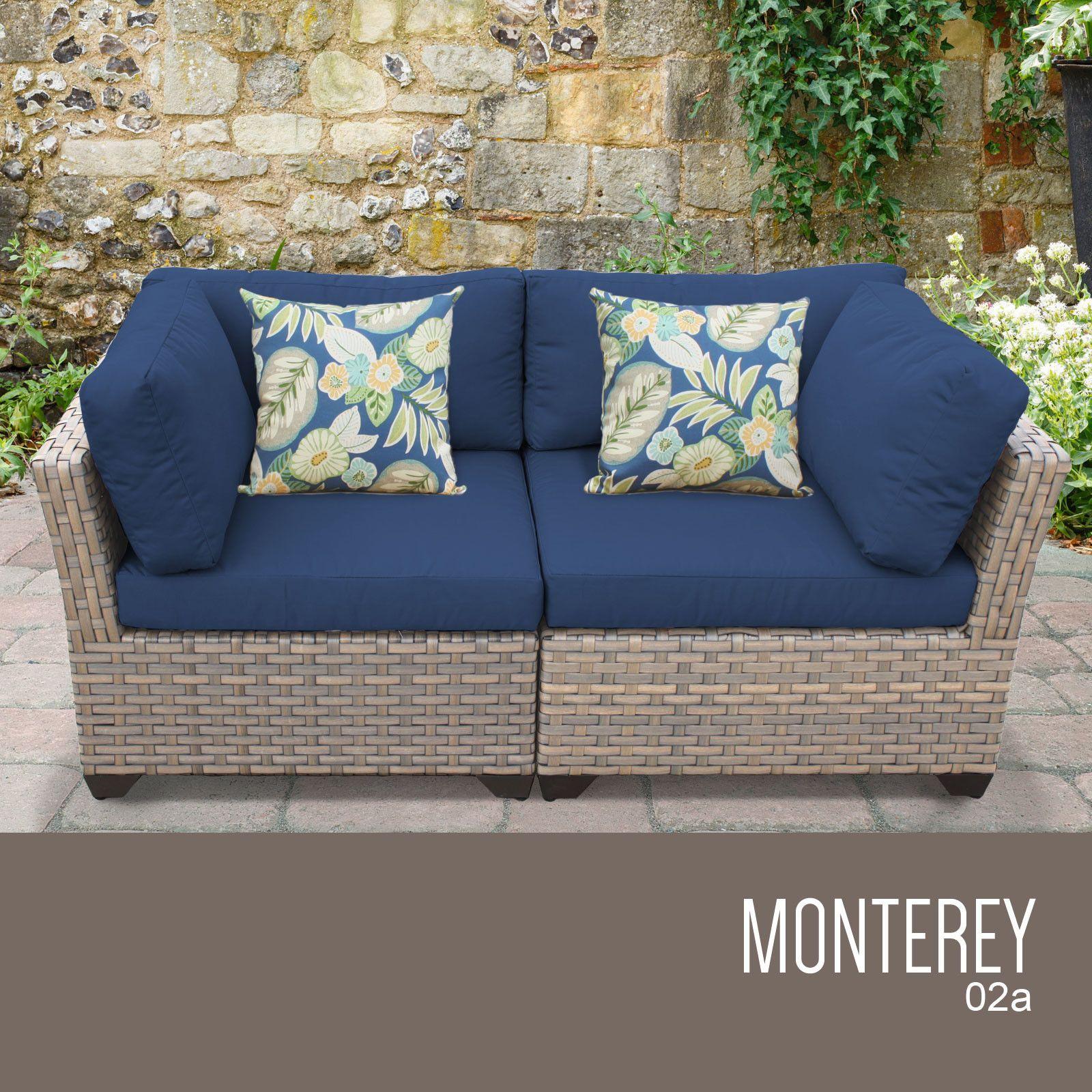 Monterey 2 Piece Outdoor Wicker Patio Furniture Set 02a