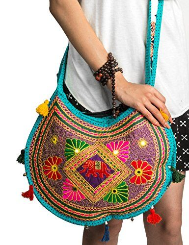 Hippie Sling Handmade Crossbody Bag Boho Chic Patchwork Embroidered  Shoulder Purse Gypsy Blue -- Find out more about the great product at the  image link. 0127090e6c2a7
