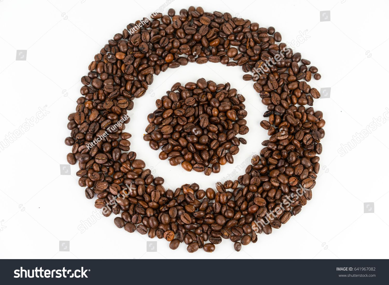 O Letter Of Coffee Bean In Cycle Shape On White Background Ad Sponsored Bean Coffee Letter Cycle In 2020 Coffee Beans Shapes Lettering