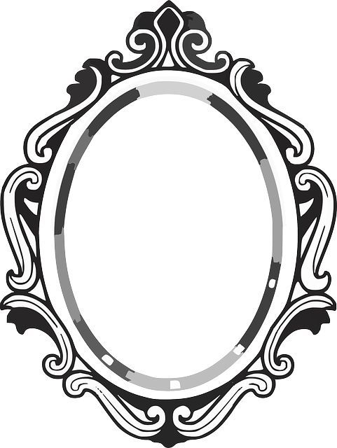 line drawing mirror frame clipart panda free clipart images rh pinterest com mirror clip art in word mirror clipart free black and white