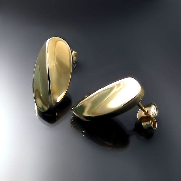 FORMA Bean Earrings Designer jewelry Jewelry collection and Gold