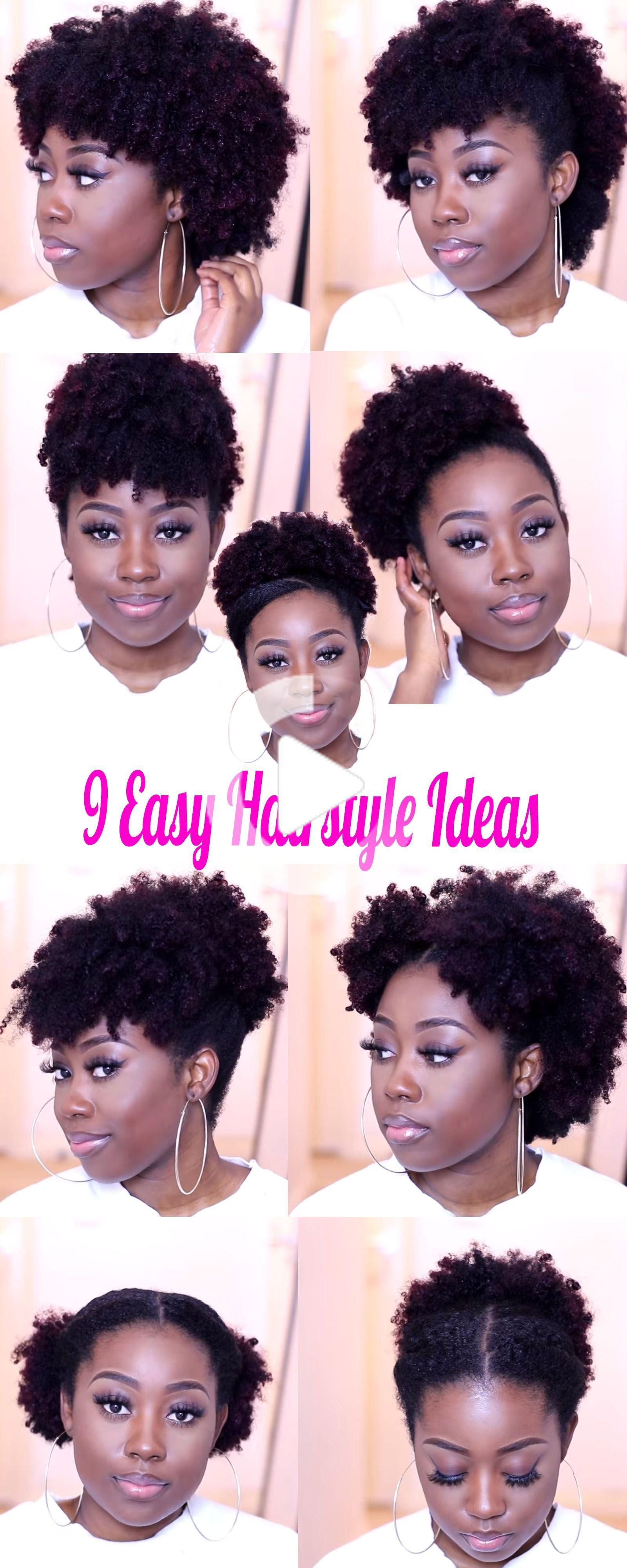 9 Medium Natural Hairstyle Ideas You Can Quickly Create On The Go In 2020 Natural Hair Styles Natural Hair Styles Easy Short Natural Hair Styles