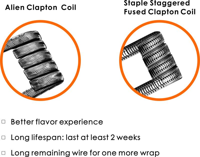 alien-&-staple-staggered-fused-clapton-coil | Tsunami 24 RDA From ...