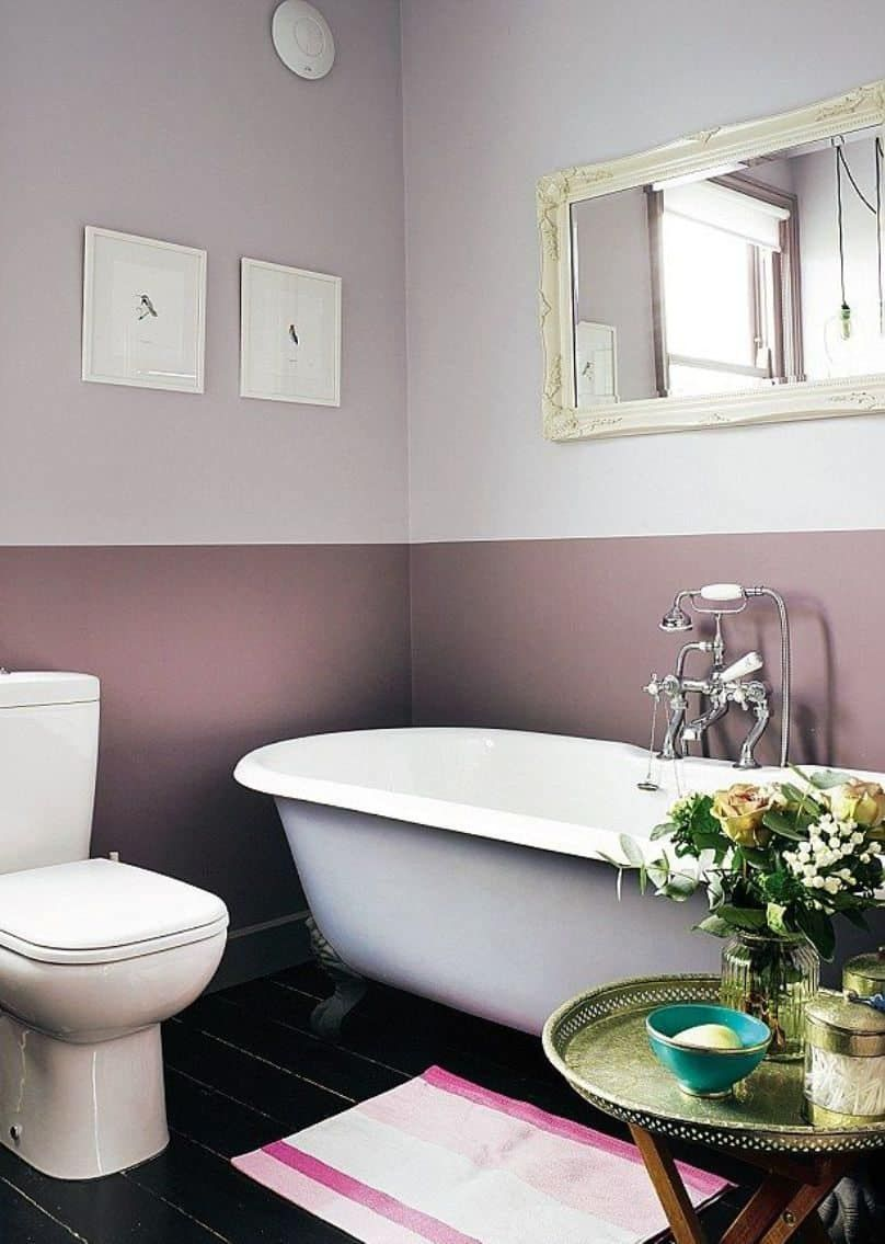 Creative Two Toned Interior Painted Wall Colors Bathroom Wall Colors Bathroom Colors Painting Bathroom