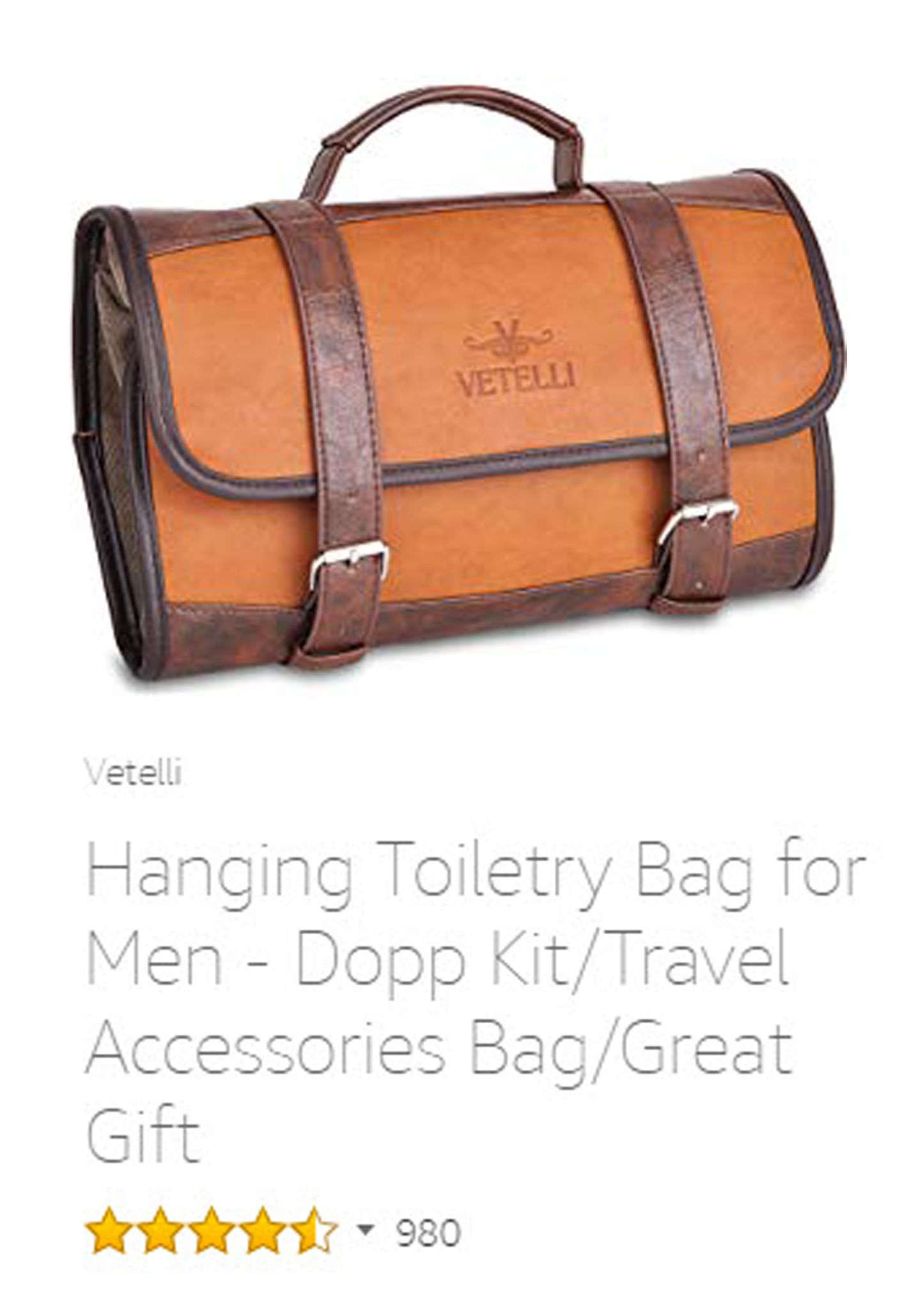 95489b465e Vetelli Hanging Toiletry Bag for Men - Dopp Kit Travel Accessories Bag Great  Gift.