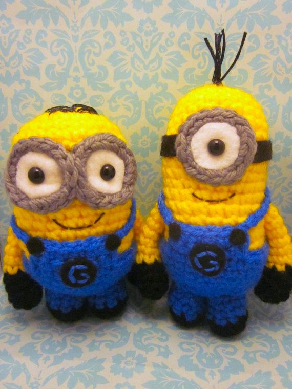 Minion Amigurumi Crocheted Doll - tee hee! Adorable :) | Amigurumi ...