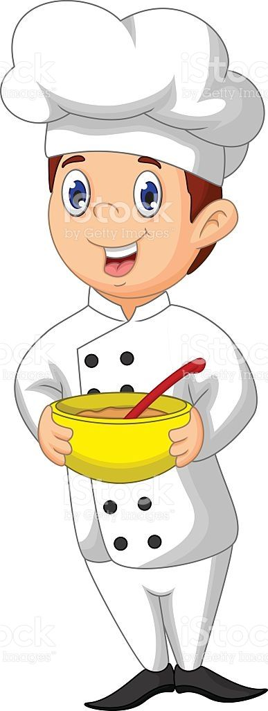 Funny Chef Cartoon Bring Bowl Vector Id541307828 387 1024 Koch