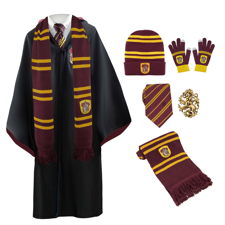 020ef7643b6 Gryffindor Full Uniform   Scarf Necktie Pin s Gloves Beanie Robe ...