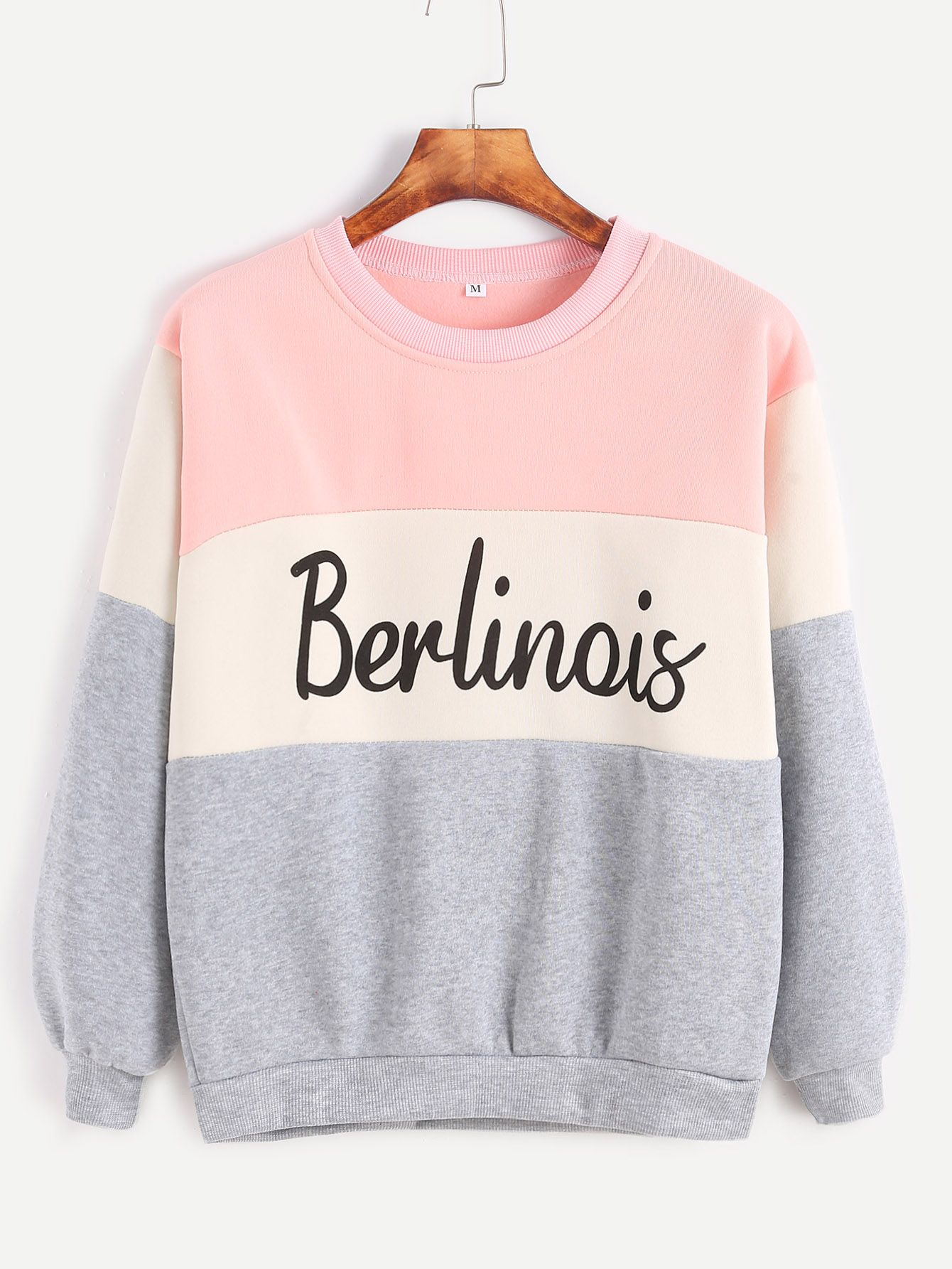 Letter Print Sweatshirt in 2018 | MY STYLE | Pinterest | Block ...