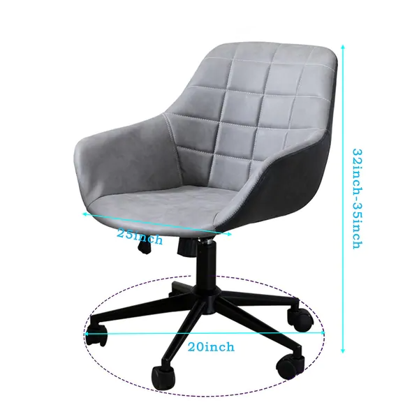 Shop Office Chair Grey Leather Desk Chair With Adjustable Seat Height Overstock 31289347 In 2020 Leather Desk Grey Chair Desk Chair