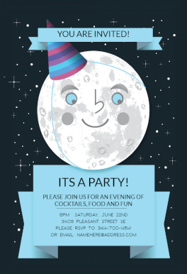 Full Moon Printable Party Invitation Template Free Greetings Island Party Invite Template Free Party Invitation Templates Free Party Invitations