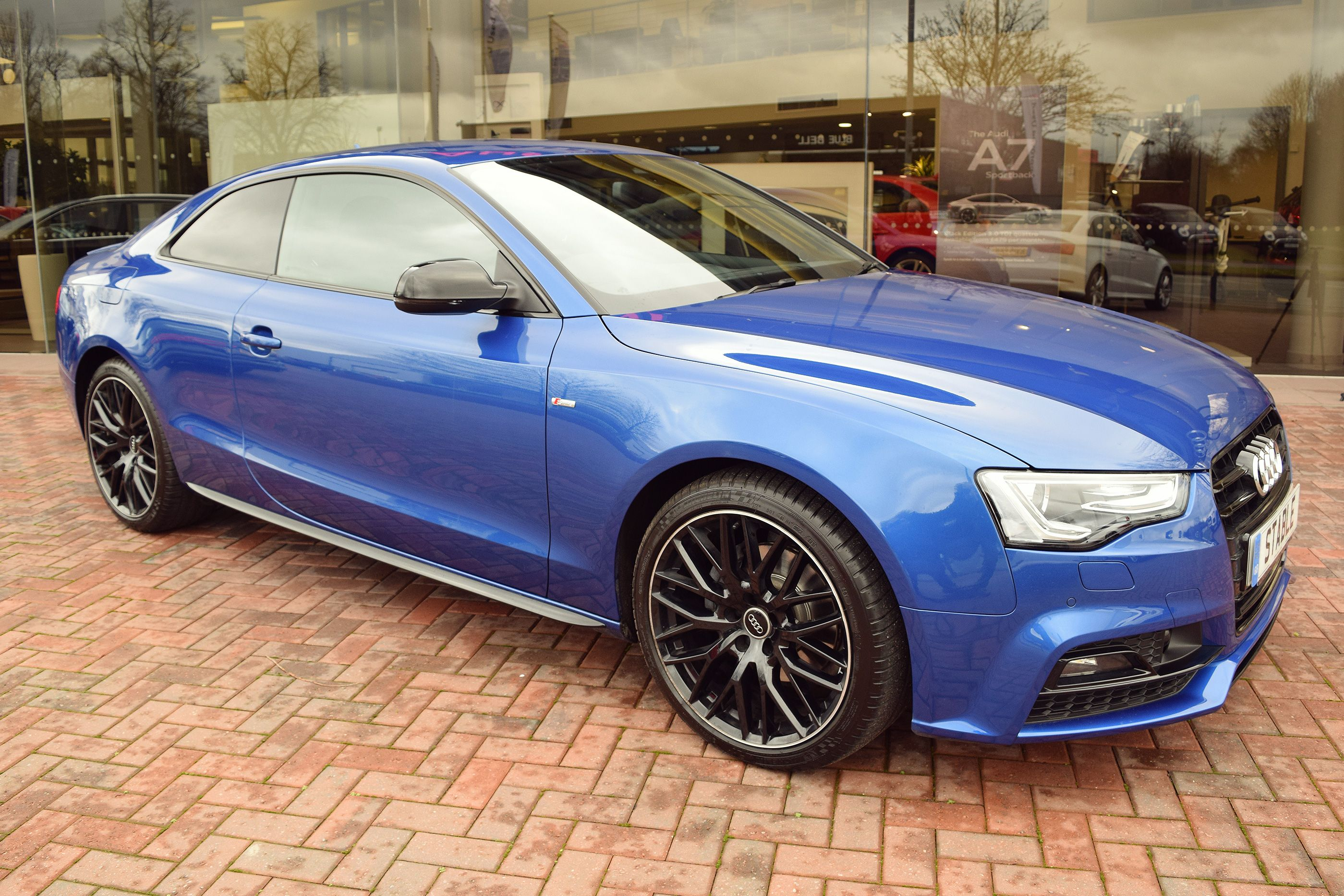 2016 audi a5 coupe black edition plus in sepang blue. Black Bedroom Furniture Sets. Home Design Ideas