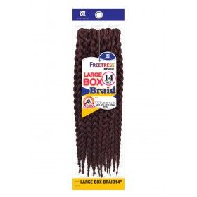 Freetress Crochet Braid LARGE BOX BRAID 14 Inch #crochetbraids