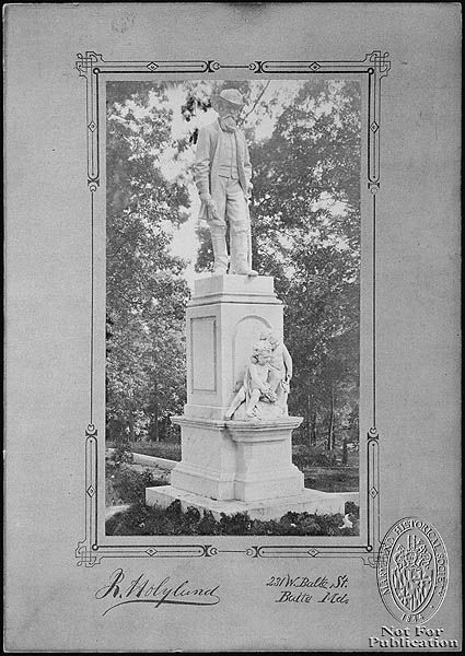 The Confederate Monument, Loudon Park National Cemetery was installed about 1912, is also known as the Fort McHenry Monument. It marks the burial place of Confederate soldiers who died while imprisoned in Fort McHenry during the Civil War and were re-interred at Loudon Park National Cemetery in 1895. Although 136 Confederates were buried at the cemetery, only 29 were identified and named on the monument. http://www.cem.va.gov/cems/nchp/loudonpark.asp