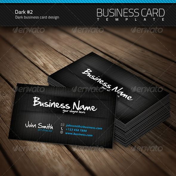 Dark business card business cards business and print templates dark business card colourmoves Choice Image