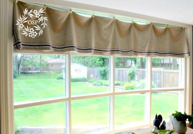 Vintage Mangle Cloth Window Treatment