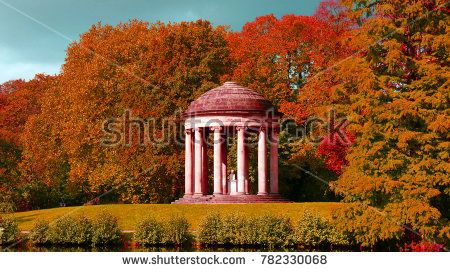 Autumn view of Hannover Gerorge garden landscape Pinterest