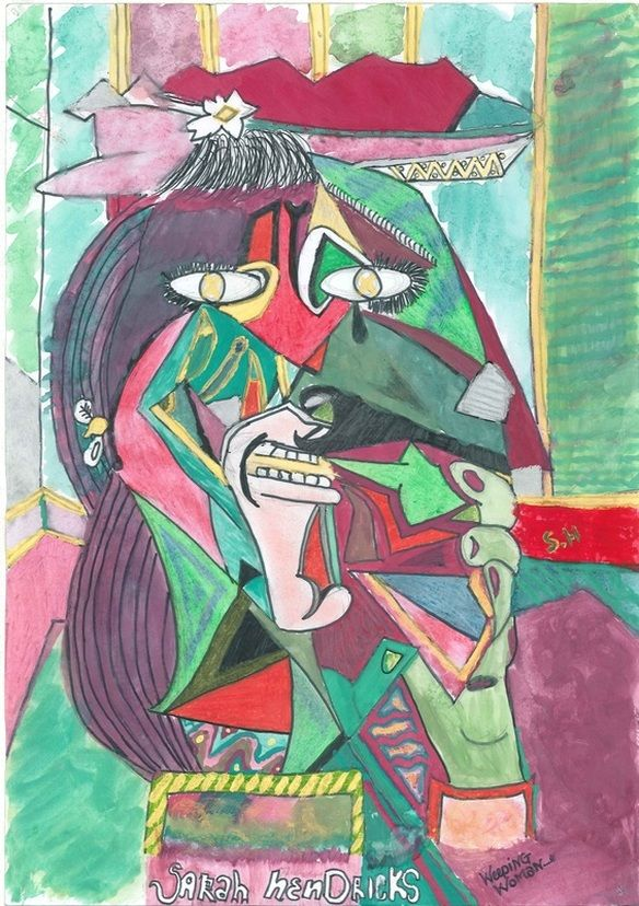 Picasso S Weeping Woman Weeping Woman Camping Art Famous Artists For Kids