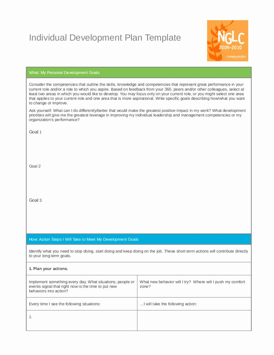 Individual Development Plan Template Awesome Personal