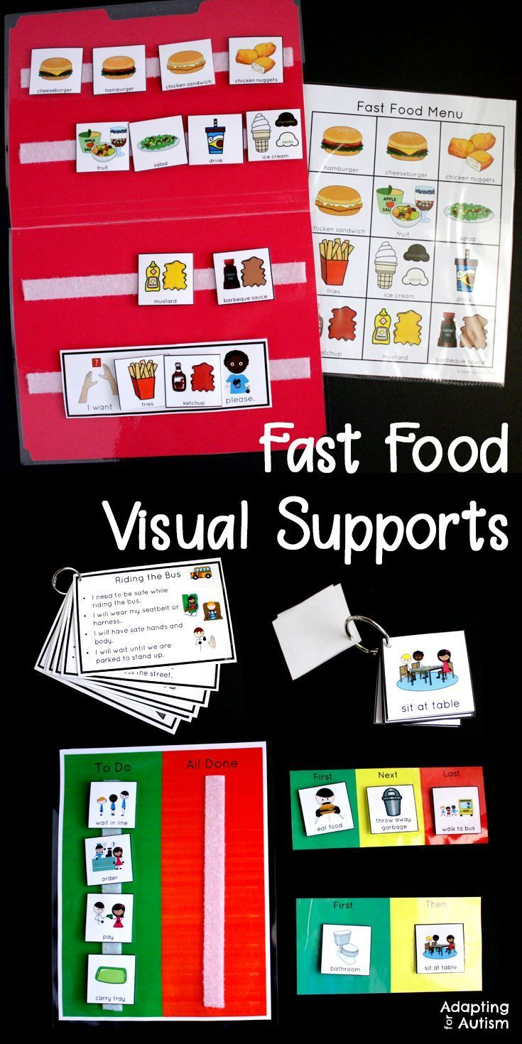 community based instruction fast food restaurant community trip work pinterest visual schedules special education and life skills